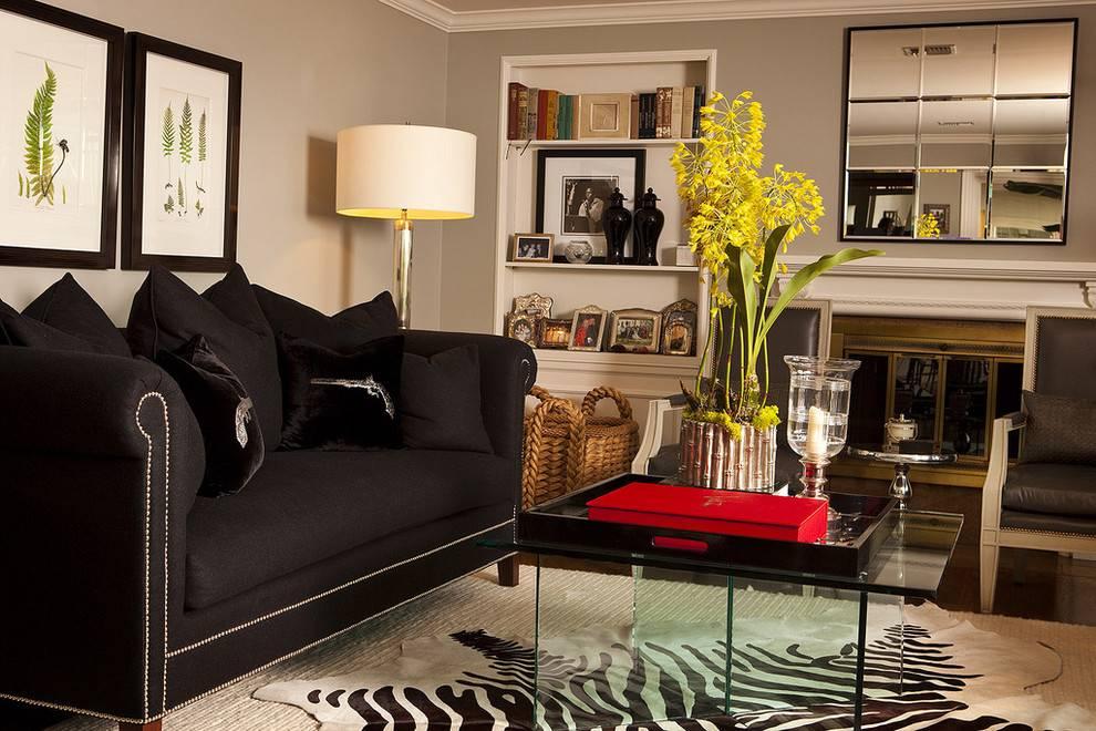 Серый диван в интерьере гостиной: интерьер - 42 фото
