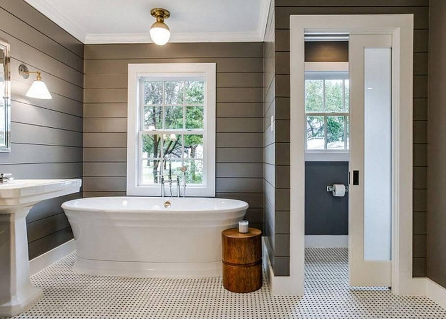 Ванная в деревянном доме: 150 фото новинок дизайна и современных идей оформления интерьера