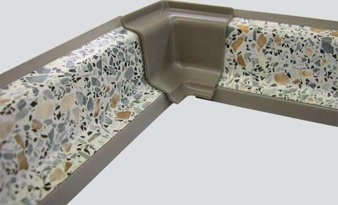 Плинтус кухонный для столешницы: как закрепить алюминиевый уголок