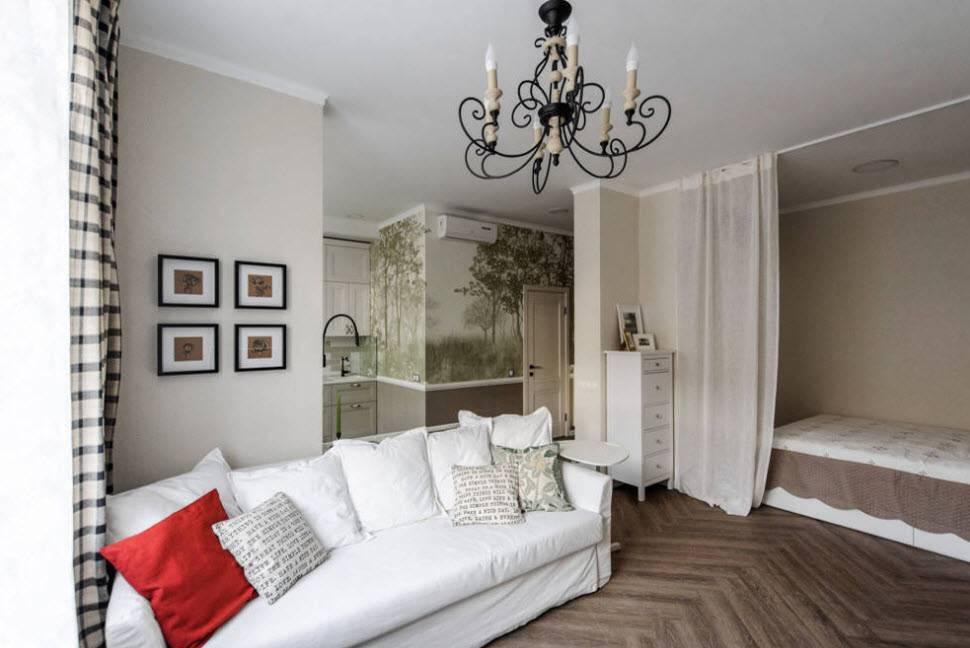 Дизайн однокомнатной квартиры площадью 33 кв. м