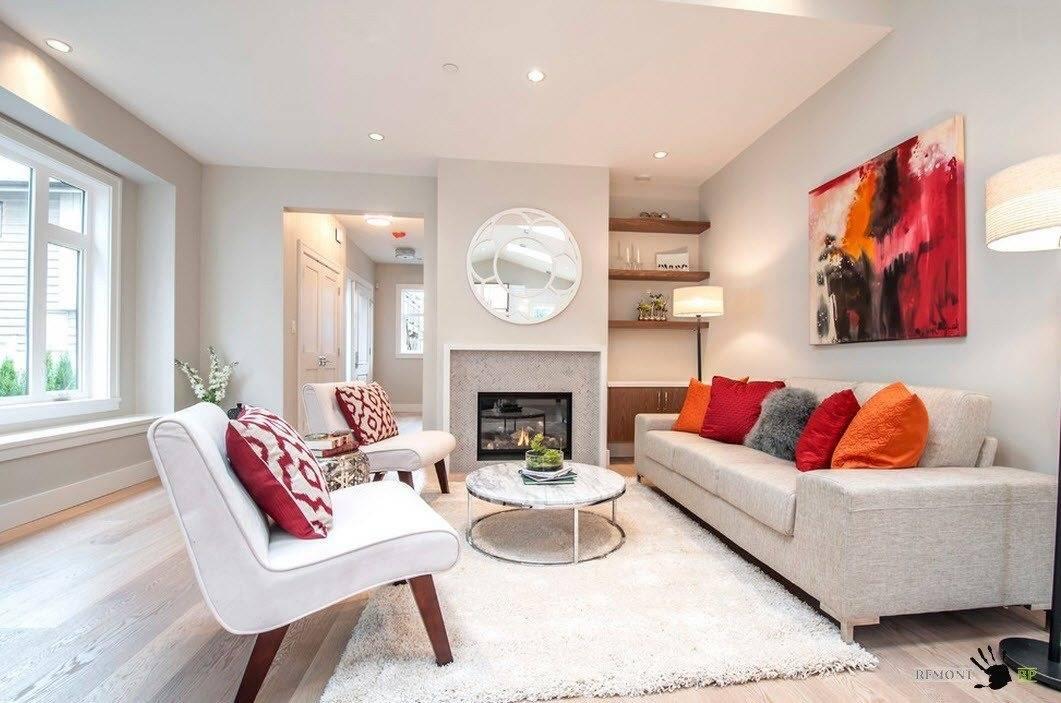Разные способы расположения двух диванов в гостиной