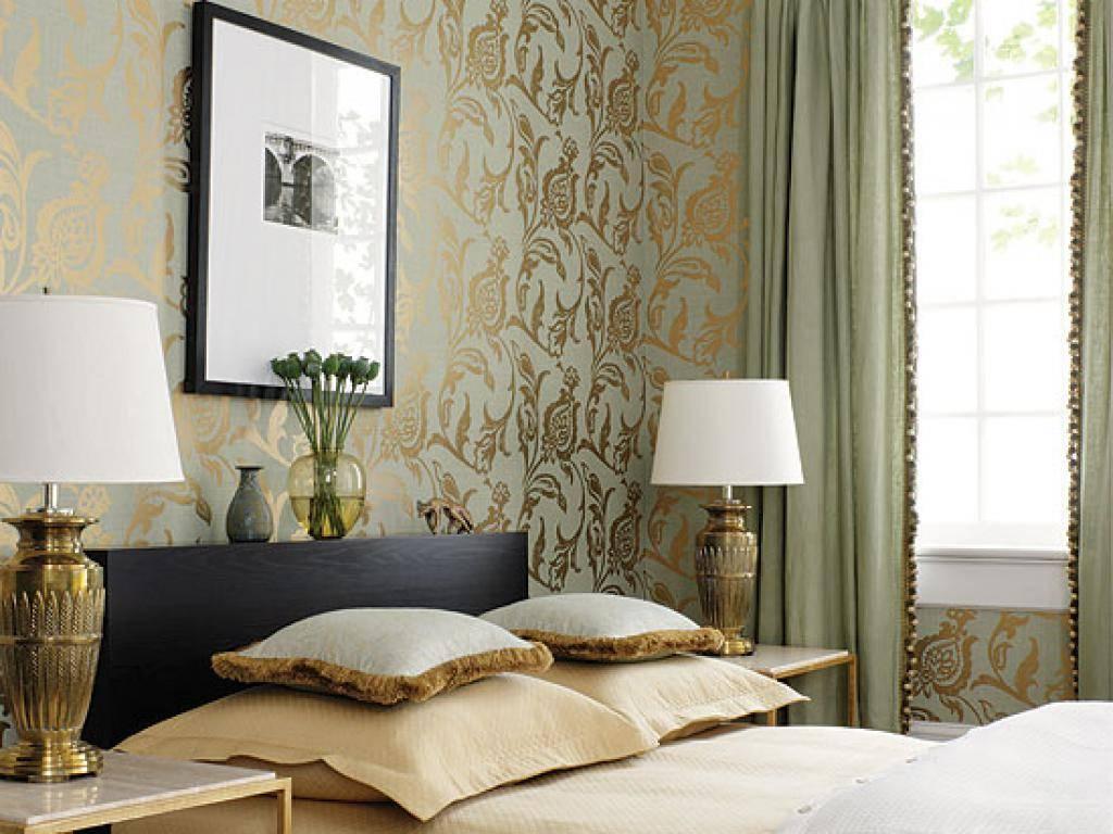 Обои в интерьере спальни: лучшие примеры дизайна, комбинирование обоев, советы по выбору цвета (200 фото новинок)