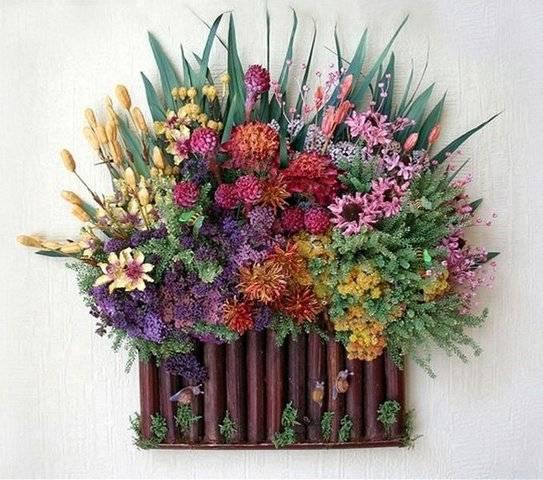 Сухоцветы в интерьере: как украсить сухими цветами дом (20 фото) | decorwind