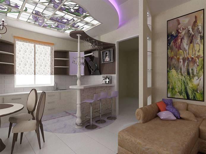Дизайн кухни-гостиной (фото)   55 лучших интерьеров !!!