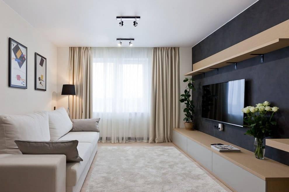 Варианты дизайна спальни-гостиной 18 кв. м