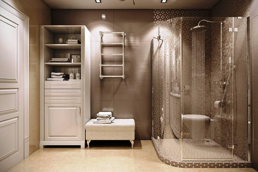 Советы по дизайну ванной комнаты с душевой кабиной