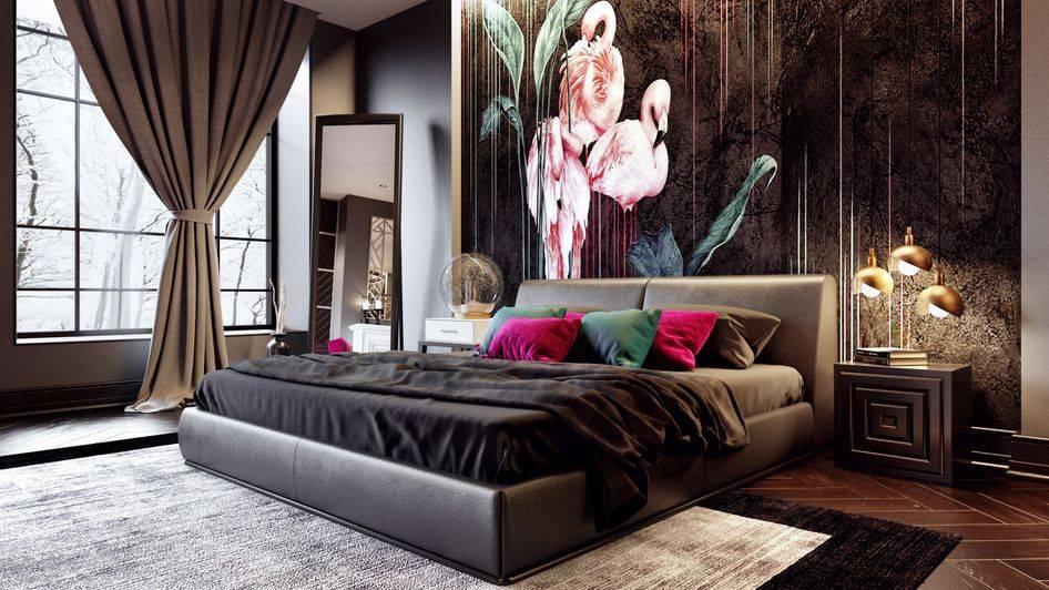 Черная спальня: особенности дизайна спальни в темных тонах (140 фото новинок)