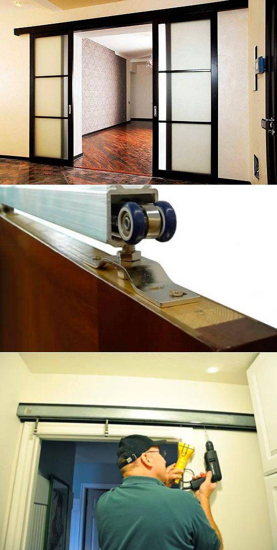 Правильный монтаж межкомнатных дверей-купе