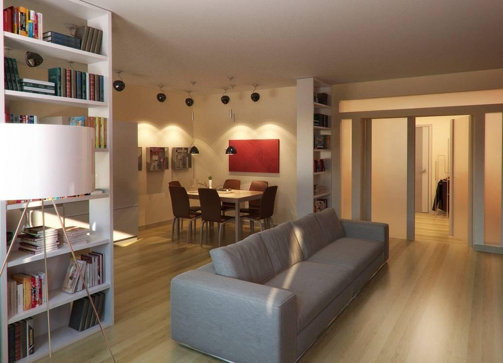 Зонирование гостиной и спальни: красивые решения, как совместить два интерьера в одной комнате (160 фото)