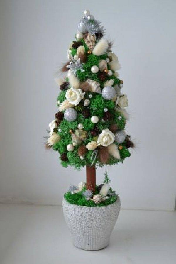 Новогодний топиарий «елочка»