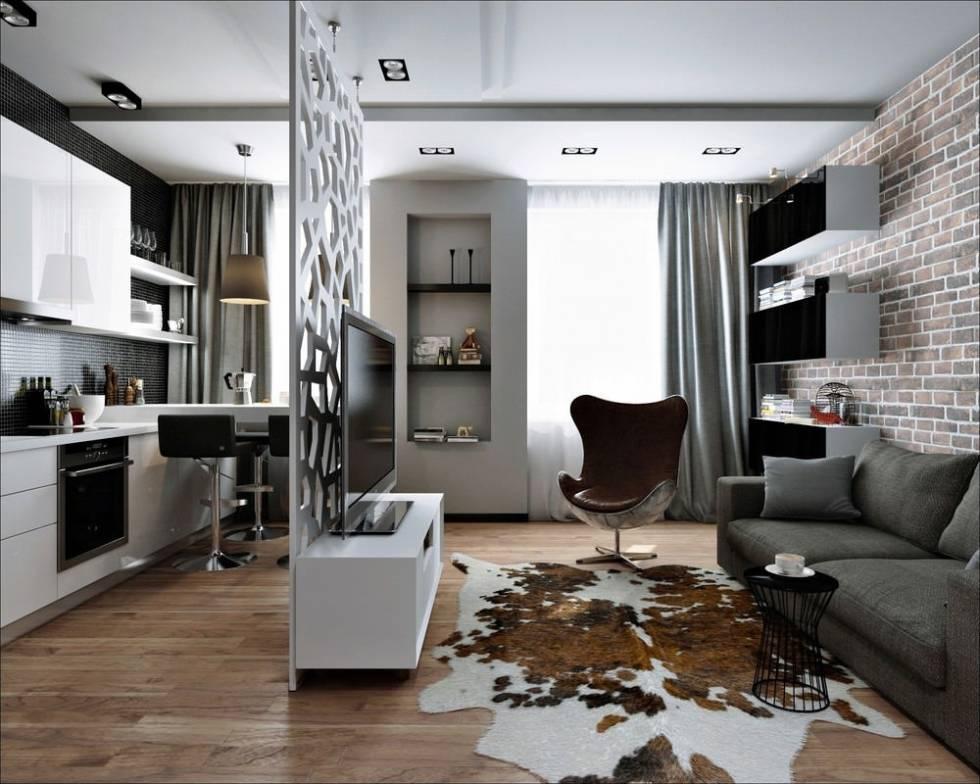Дизайн квартиры 36 кв. м. [60+ фото], планировки 1,2-комнатных, студий