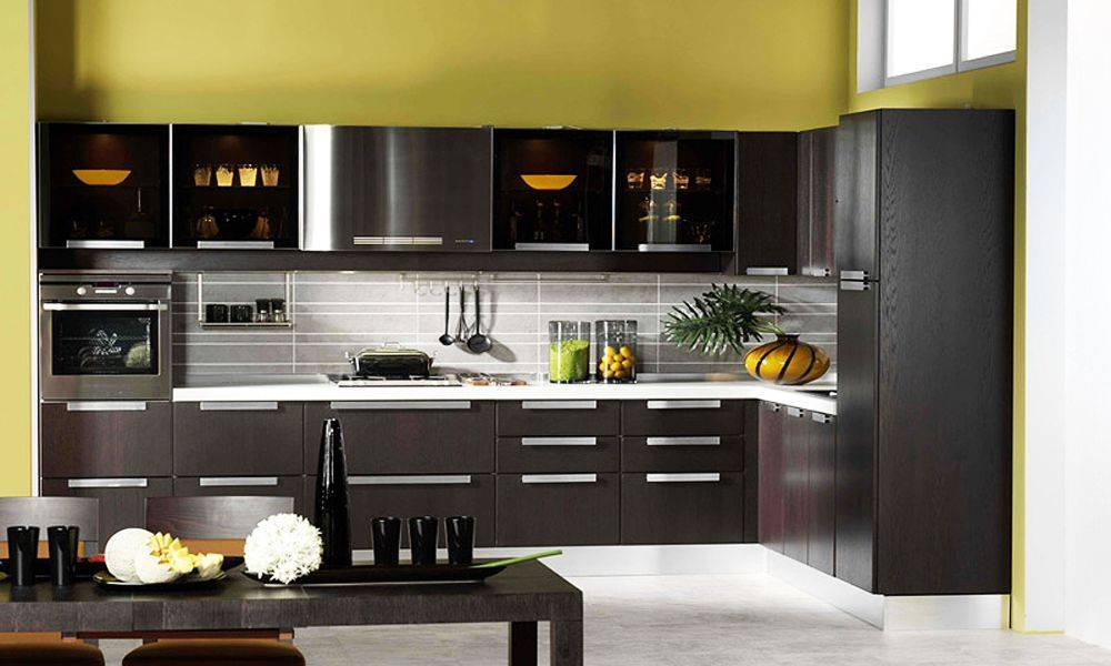 Кухня цвета венге — дизайн и 25 фото