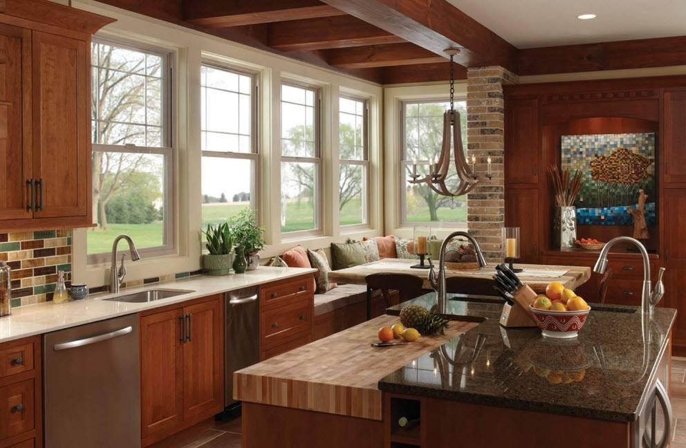 Дизайн кухни в частном доме: особенности оформления в 129 реальных фото