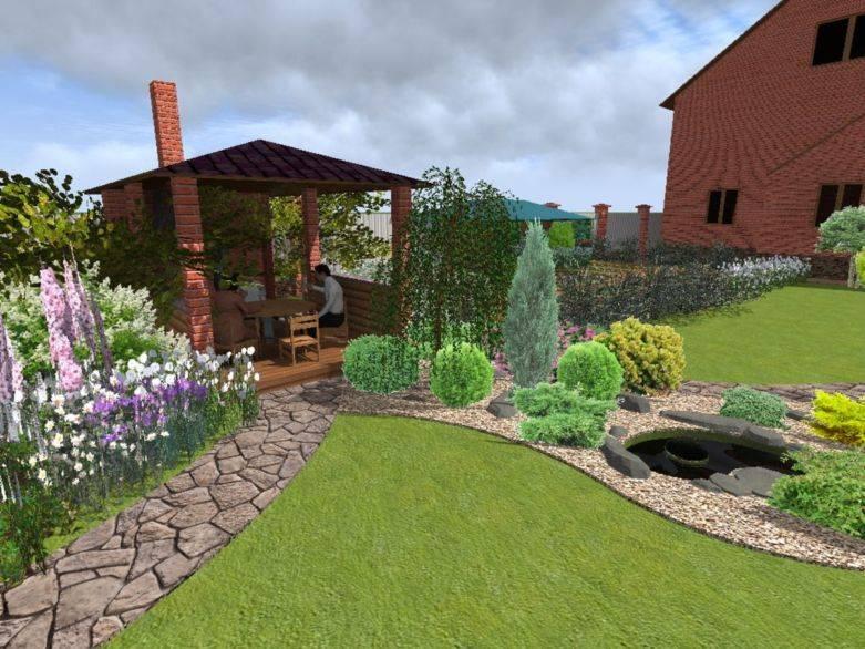Ландшафтный дизайн участка 15 соток и фото готовых проектов