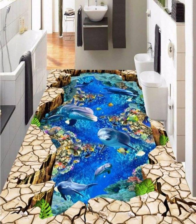 Наливные 3d-полы (65 фото): как сделать своими руками заливные полы, пошаговая инструкция, выбираем акрил и другие материалы, плюсы и минусы