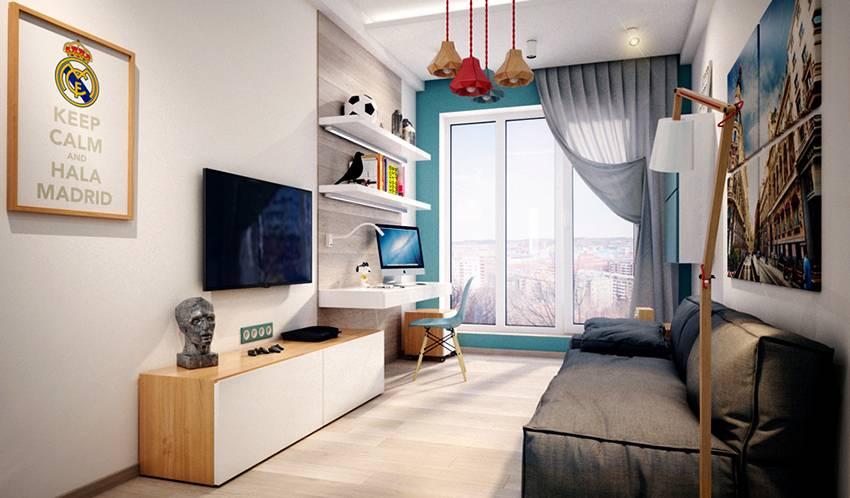 Дизайн комнаты для подростка мальчика (47 фото): лучшие интерьеры 2019   «покажу»