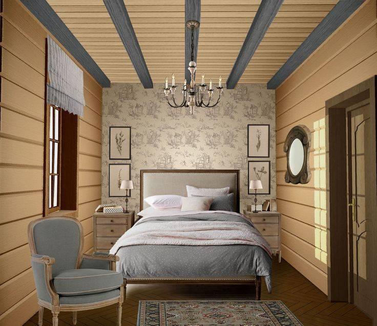 Дизайн спальни 10 кв м: интерьер в деревянном доме, загородном, на даче