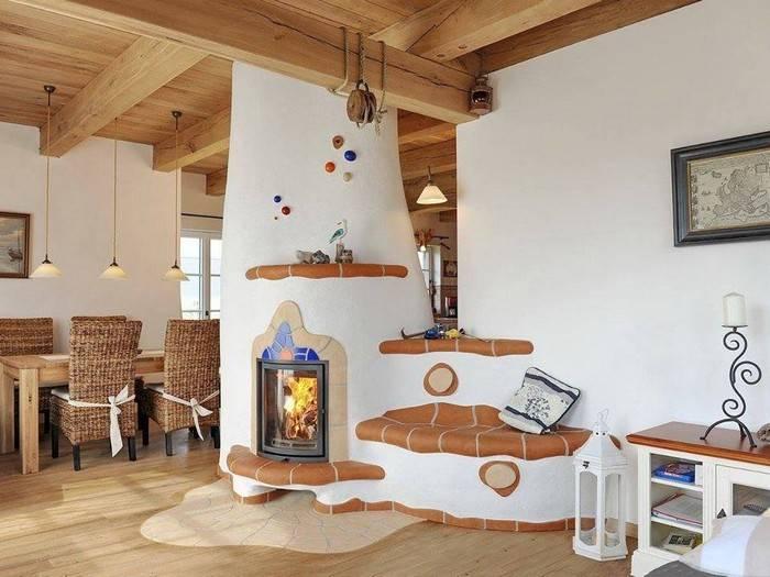 Русские печи в современном интерьере частных домов
