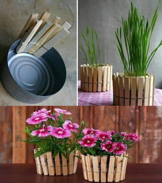 Кашпо для цветов своими руками, популярные варианты оформления