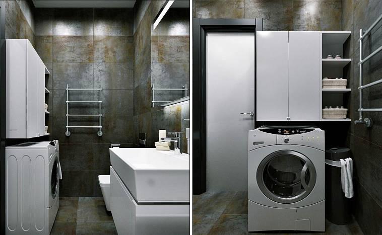Шкафы для стиральной машины в ванной комнате: разновидности и советы по размещению