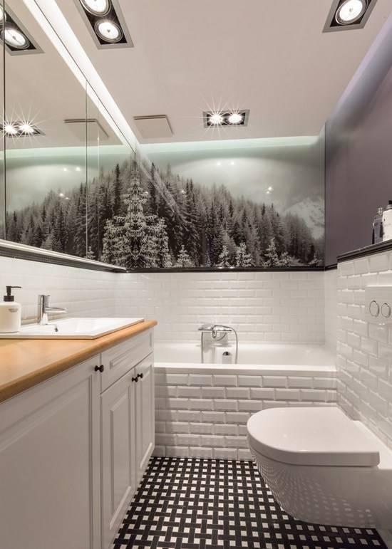 Чем отделать ванную комнату кроме плитки: варианты