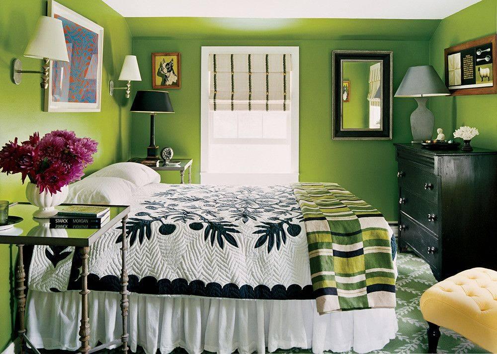 Зеленая спальня: идеи и советы по созданию уютного интерьера (60 фото)