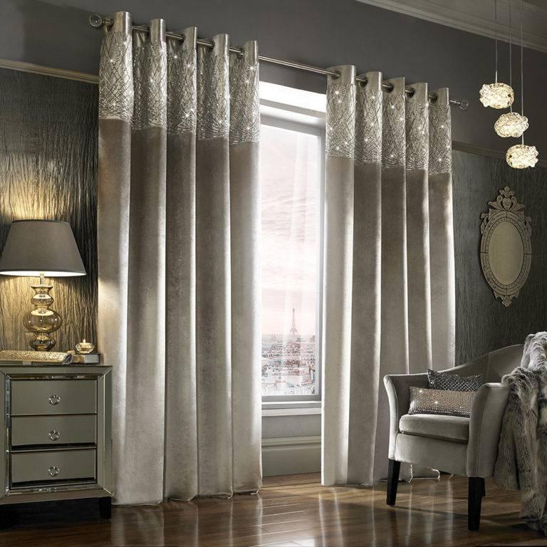 Красивые шторы в спальню — фото примеры штор в современном стиле, правила выбора цвета, дизайна и оформления