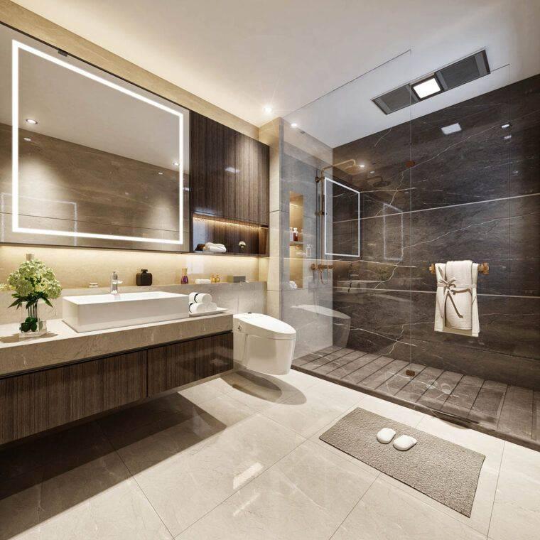 Современная ванная комната - 7 идей в соответствии с трендами 2021 года! | дизайн и интерьер ванной комнаты