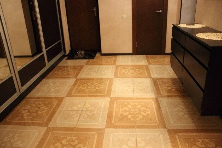 Дизайн напольной плитки для коридорного и кухонного помещения