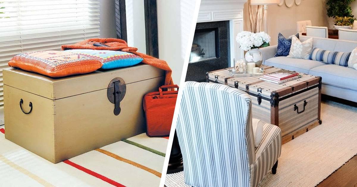 Сундуки для хранения вещей: удобный интерьерный предмет 40+фото