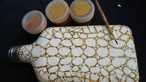 Декор предметов мастер-класс декупаж имитация мраморной крошки с помощью яичной скорлупы декупаж чайной баночки клей крупа салфетки скорлупа яичная