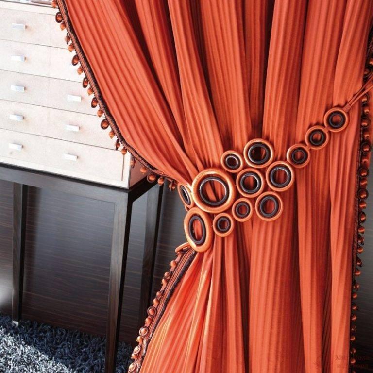 Декор штор: 75 фото интересных идей простых и доступных украшений