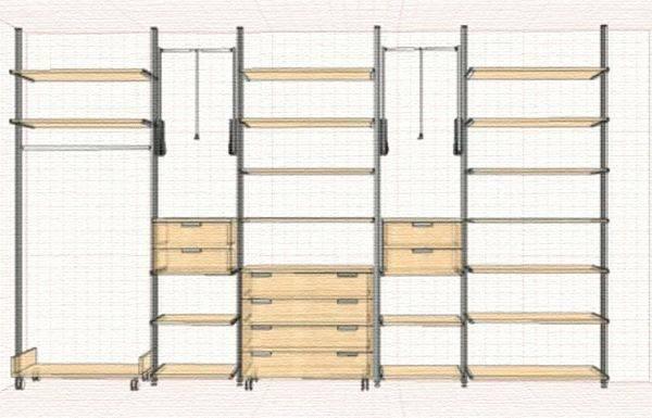 Гардеробная своими руками в маленькой комнате: советы и чертежи для изготовления