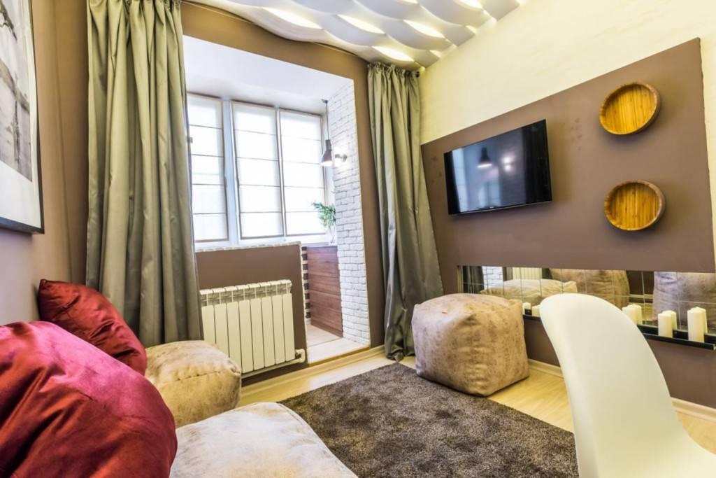 Дизайн комнаты с балконом: особые решения - 18 фото примеров