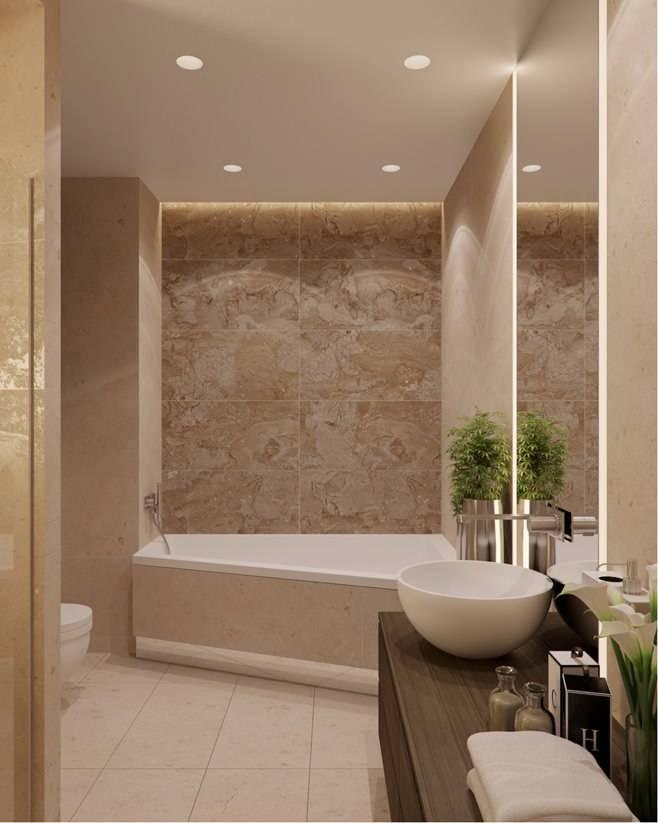 Бежевая ванная: секреты и правила дизайна (48 фото)