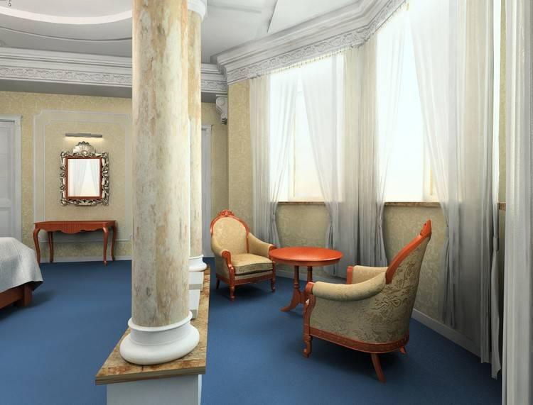 Колонны в интерьере квартиры и дома | современный дизайн на фото