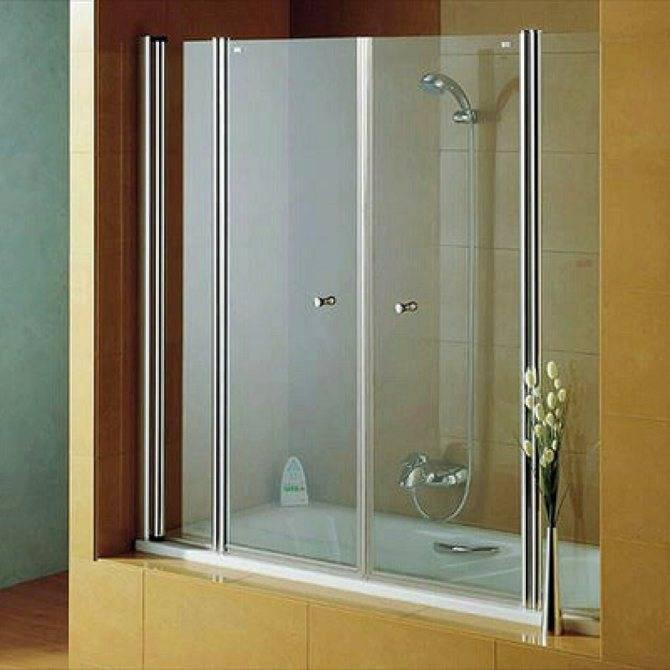 Раздвижные ширмы для ванной: виды и установка