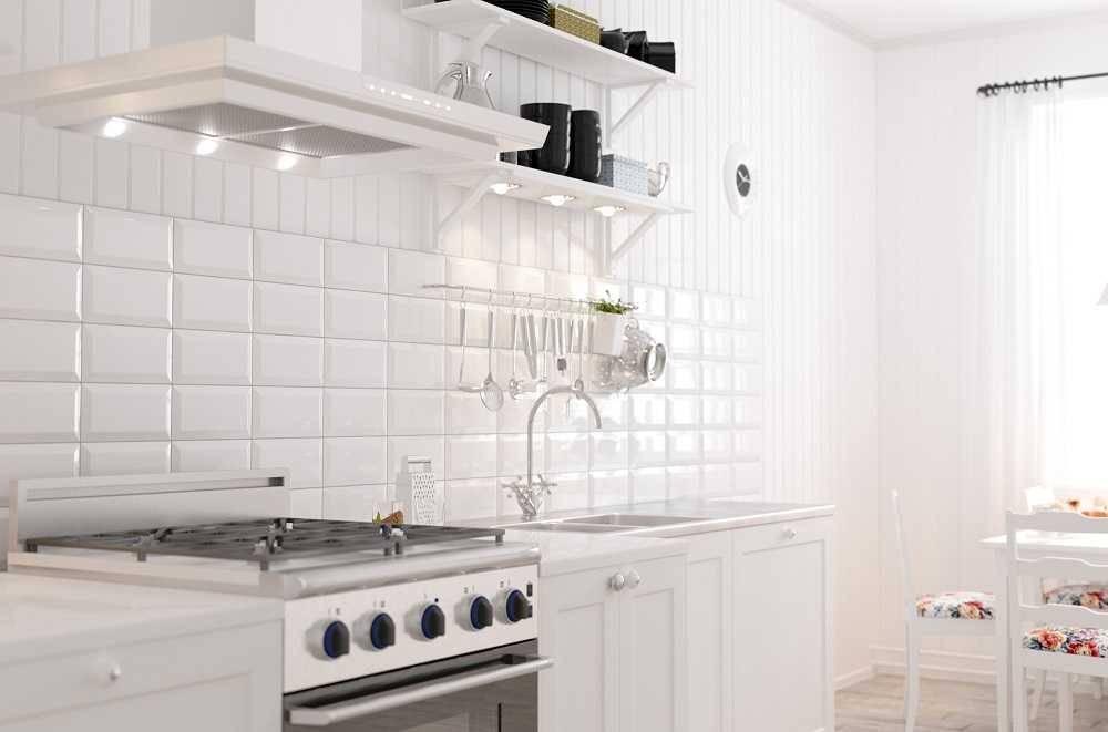 Плитка для фартука на кухню: виды, размеры и способы укладки