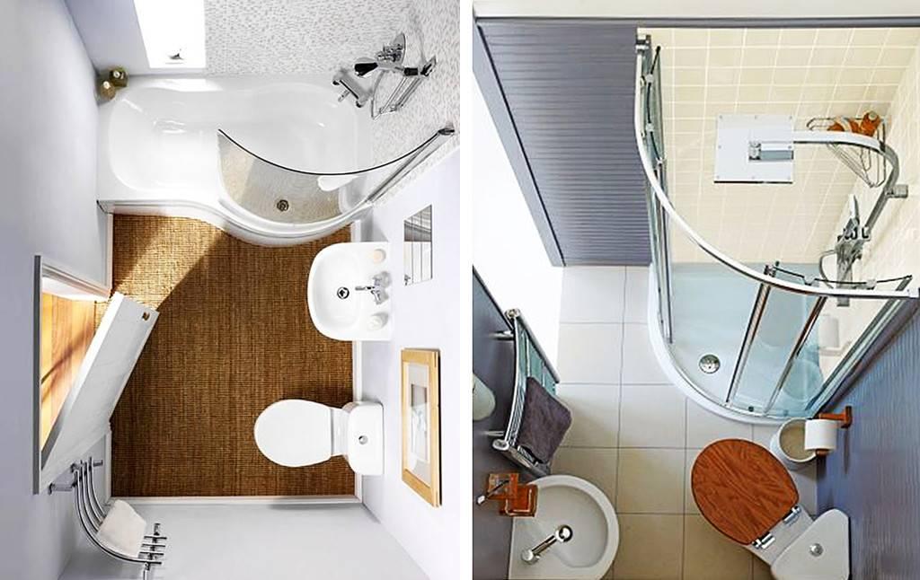 Ванные комнаты 5 и 6 кв. м: 100 фото-идей в дизайне интерьера