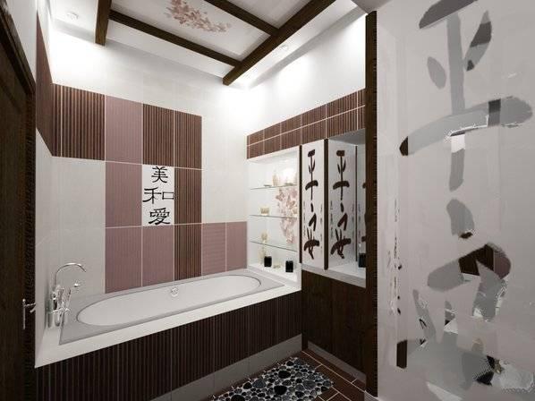 Интерьер ванной, совмещенной с туалетом - 30 реальных фото