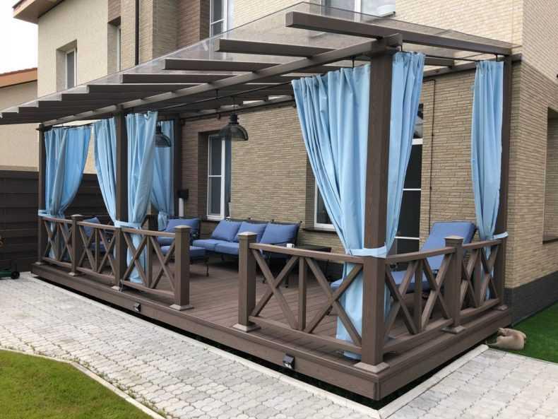 Уличные шторы для беседки и веранды: пвх, уличные, прозрачные, защитные от ветра и дождя, на даче