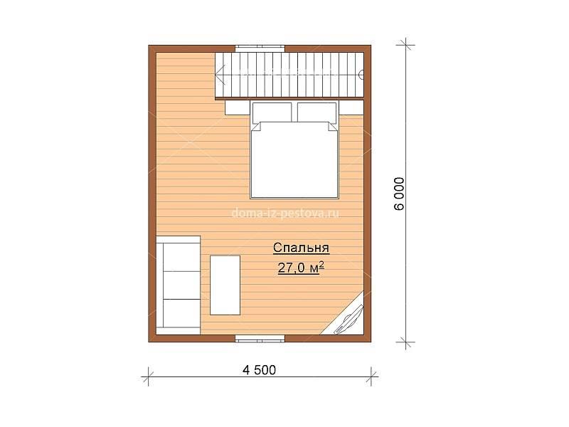 Проекты одноэтажного дома размером 6 на 8 метров