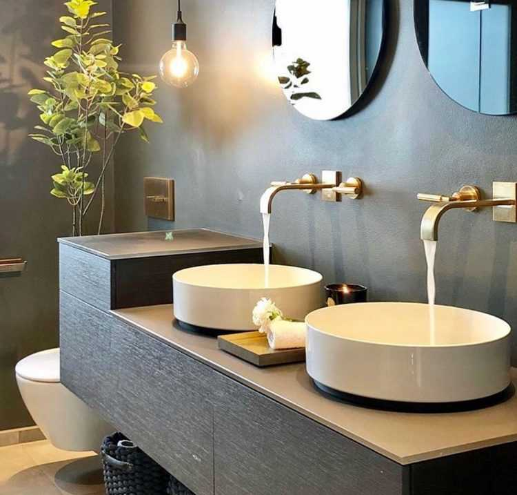 Встроенные раковины в ванной (65 фото): выбор врезных сверху и снизу раковин в столешницу, высота