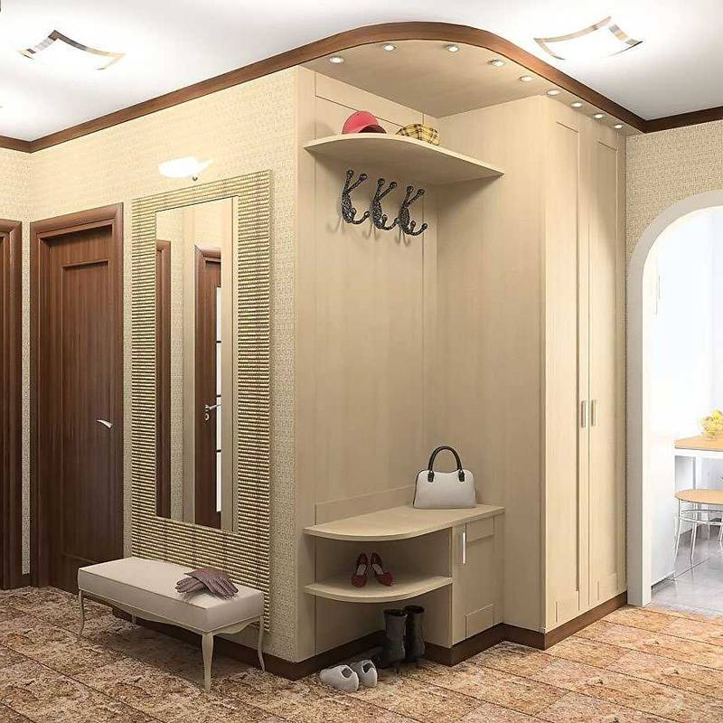Дизайн маленького коридора в квартире — фото интерьера