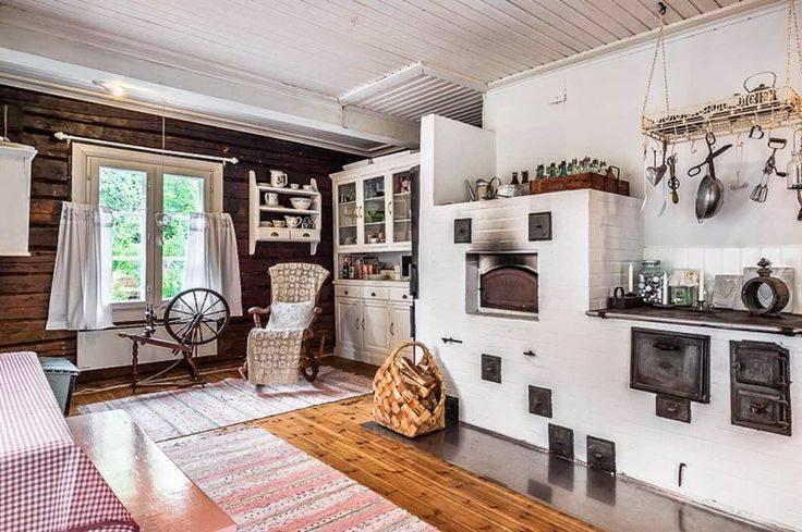 Дизайн дома с русской печкой