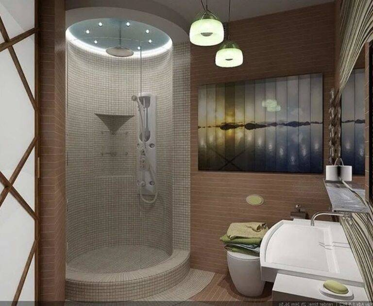 Душевая без кабины и поддона: 75 фото - «интерьер ванной»