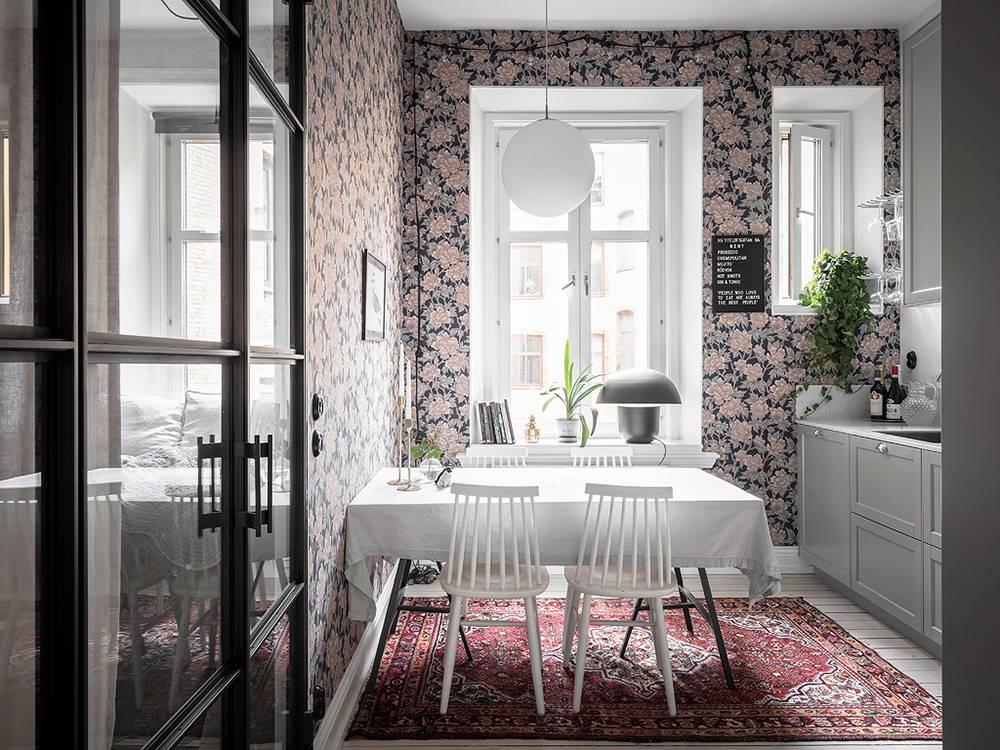 Обои для маленькой кухни в современном интерьере 2019, фото-идеи оригинальных решений