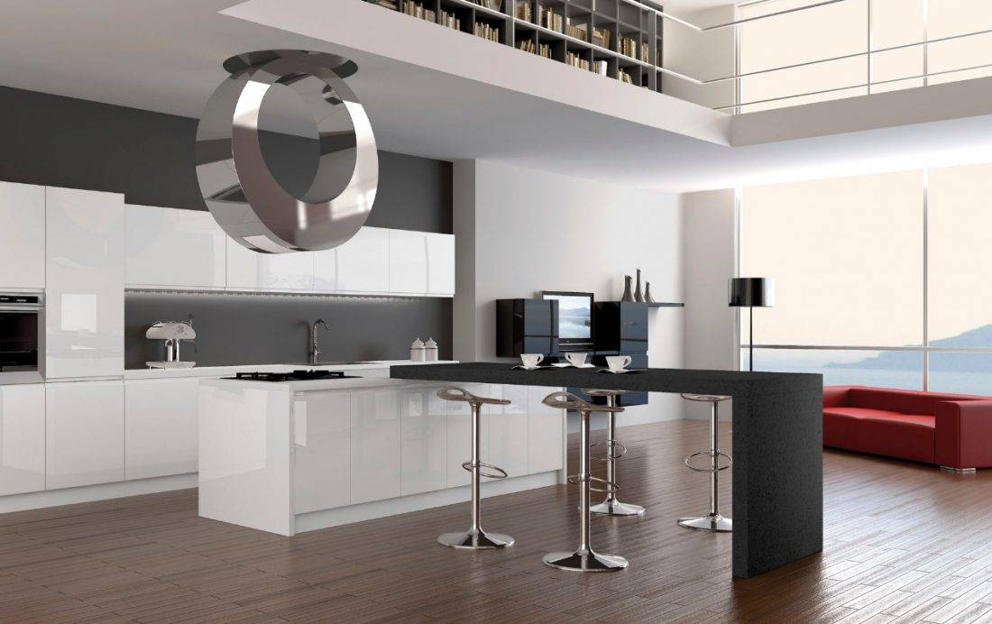 Кухня в стиле хай-тек — четкие советы по ремонту и дизайну (35 фото красивой и полезной геометрии в интерьере)