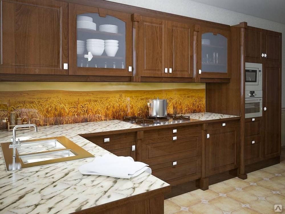 Стеновые панели для кухни: какие бывают и что лучше выбрать, стеклянные фартуки с фотопечатью, пластиковые, акриловые, искусственный камень и кирпич, критерии