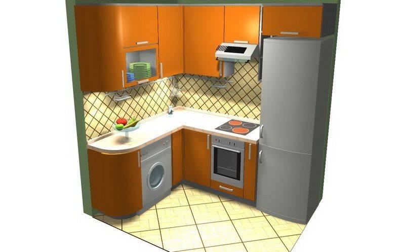 20 идей для маленькой кухни с газовой колонкой и холодильником